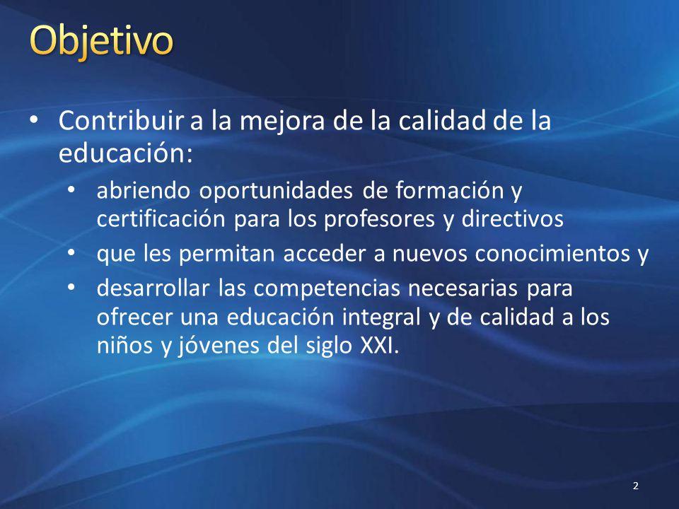 Profesores, directivos, supervisores y asesores técnico pedagógicos de escuelas públicas y privadas de habla hispana de cualquier nivel educativo.