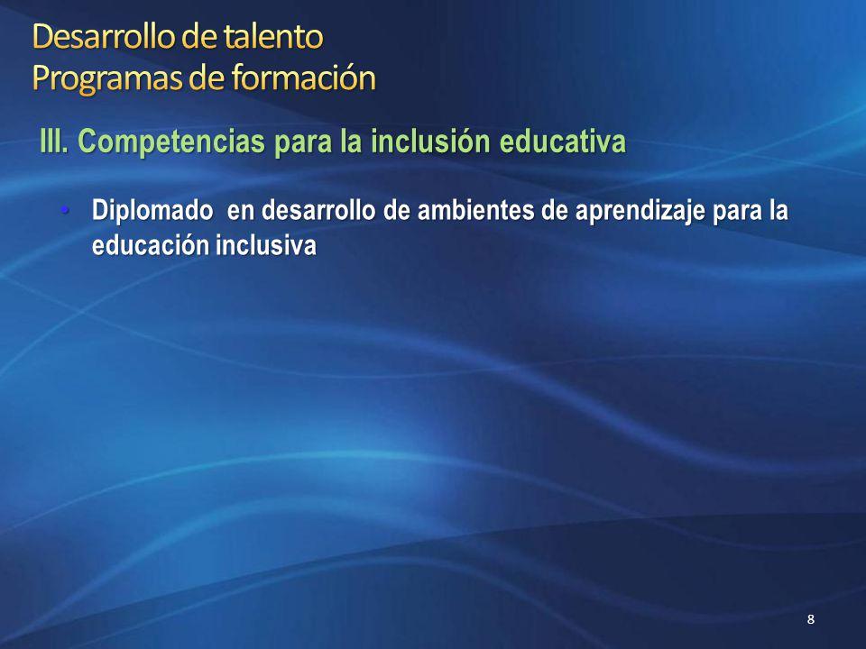 Diplomado de Aprendizaje y Herramientas para el Desarrollo de una Cultura Ambiental Diplomado de Aprendizaje y Herramientas para el Desarrollo de una Cultura Ambiental IV.