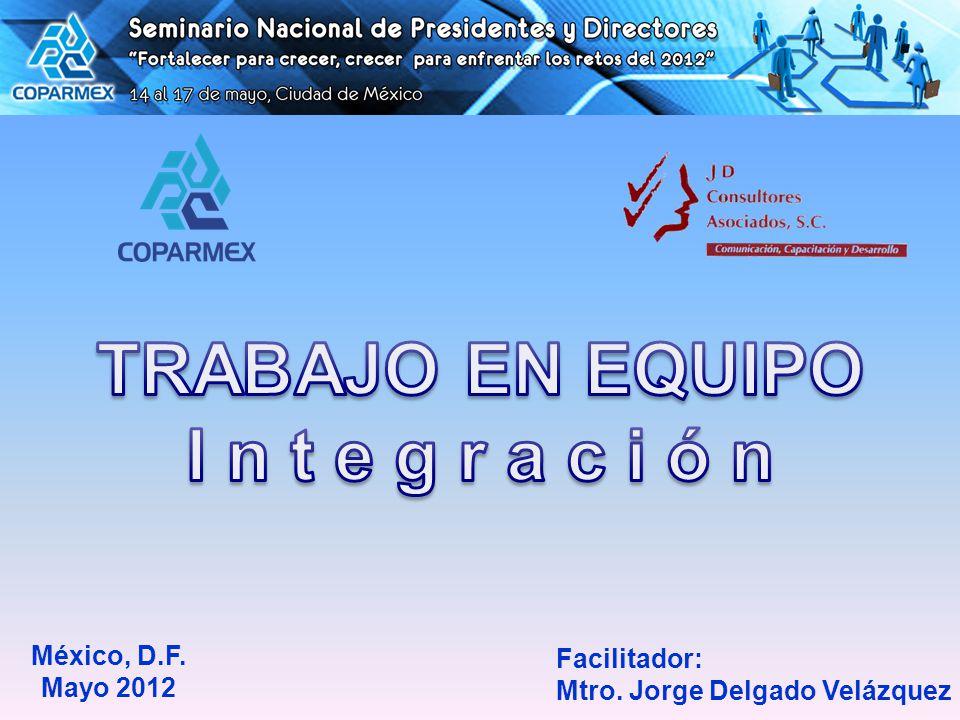 Facilitador: Mtro. Jorge Delgado Velázquez México, D.F. Mayo 2012