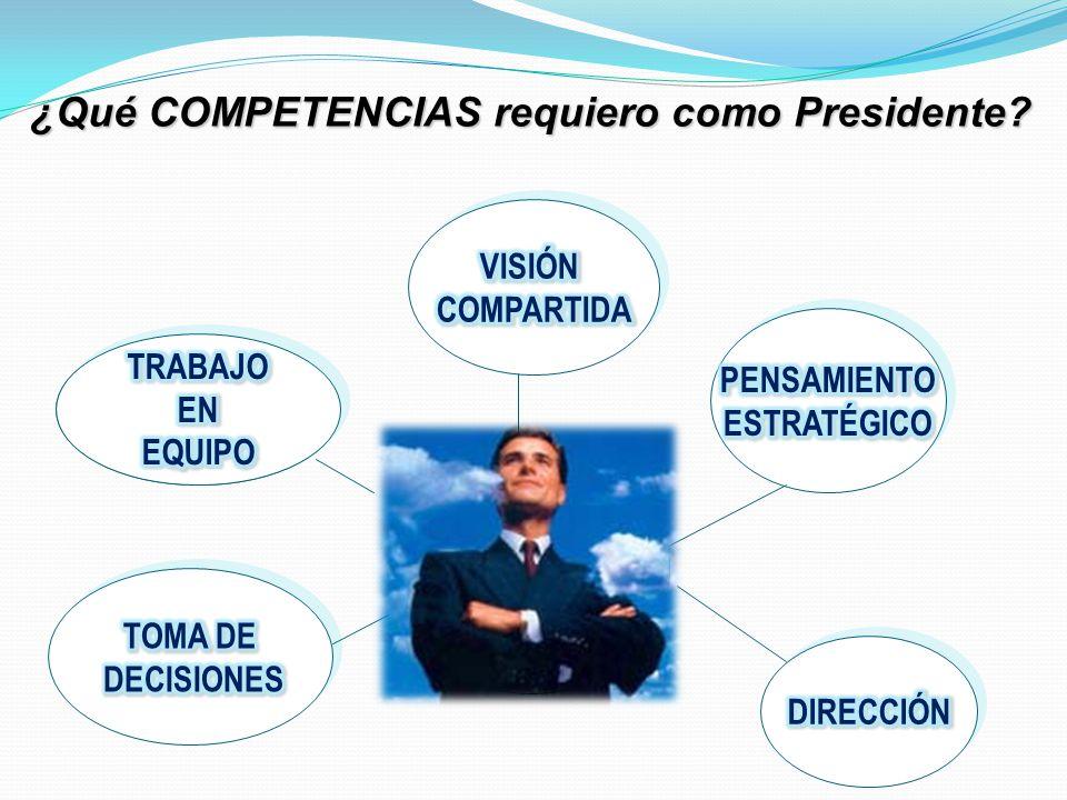 ¿Qué COMPETENCIAS requiero como Presidente?