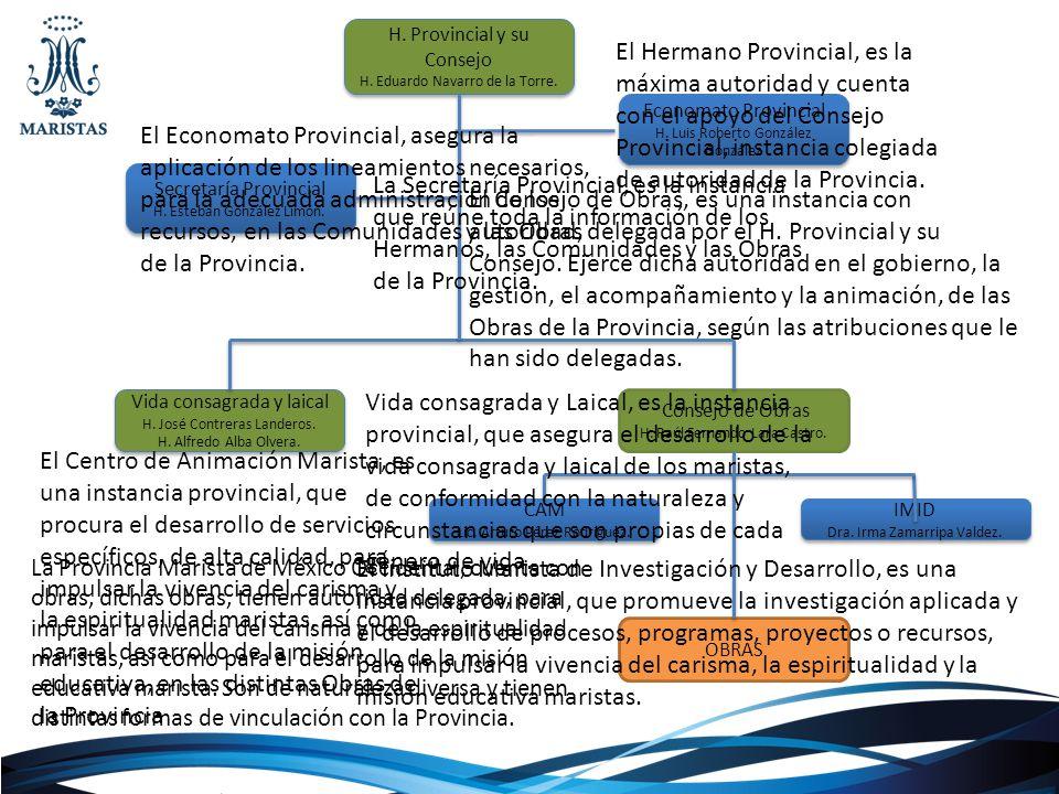 H. Provincial y su Consejo H. Eduardo Navarro de la Torre. H. Provincial y su Consejo H. Eduardo Navarro de la Torre. Vida consagrada y laical H. José