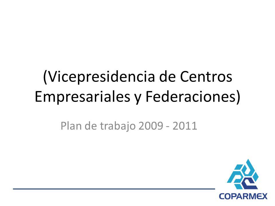 (Vicepresidencia de Centros Empresariales y Federaciones) Plan de trabajo 2009 - 2011