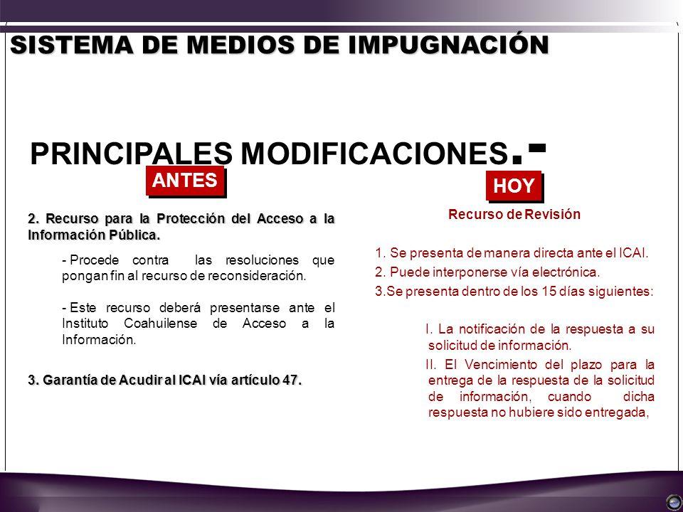2. Recurso para la Protección del Acceso a la Información Pública.