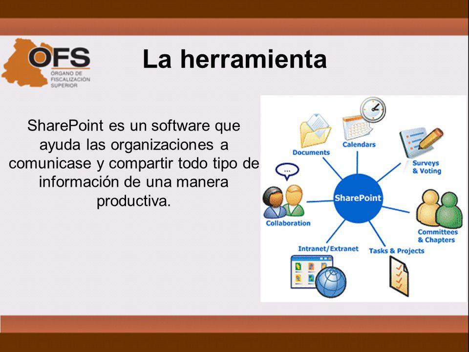 La herramienta SharePoint es un software que ayuda las organizaciones a comunicase y compartir todo tipo de información de una manera productiva.