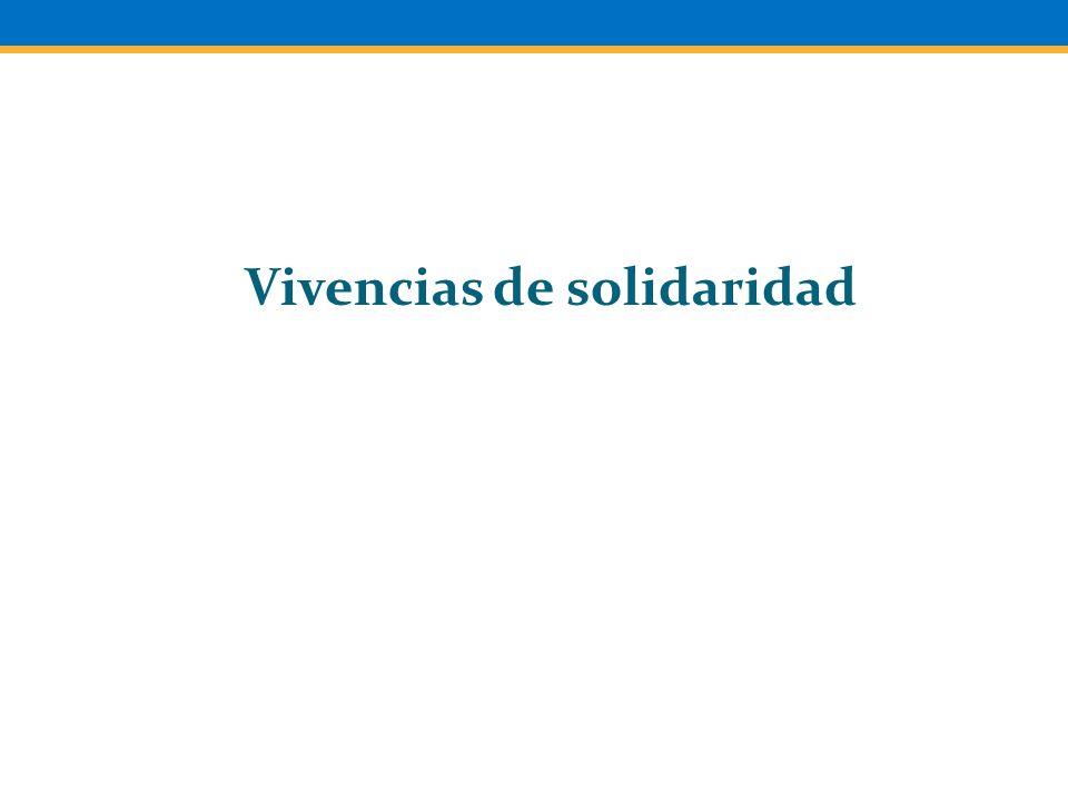 Vivencias de solidaridad