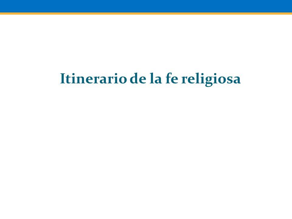 Itinerario de la fe religiosa