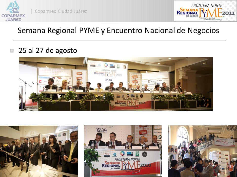 | Coparmex Ciudad Juárez Encuentro Nacional de Negocios 25 al 27 de agosto Más de 500 PYMEs Más de 20 Tractoras