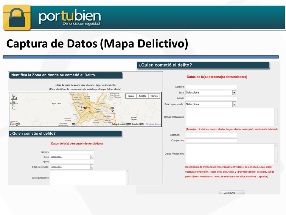 Captura de Datos (Mapa Delictivo)