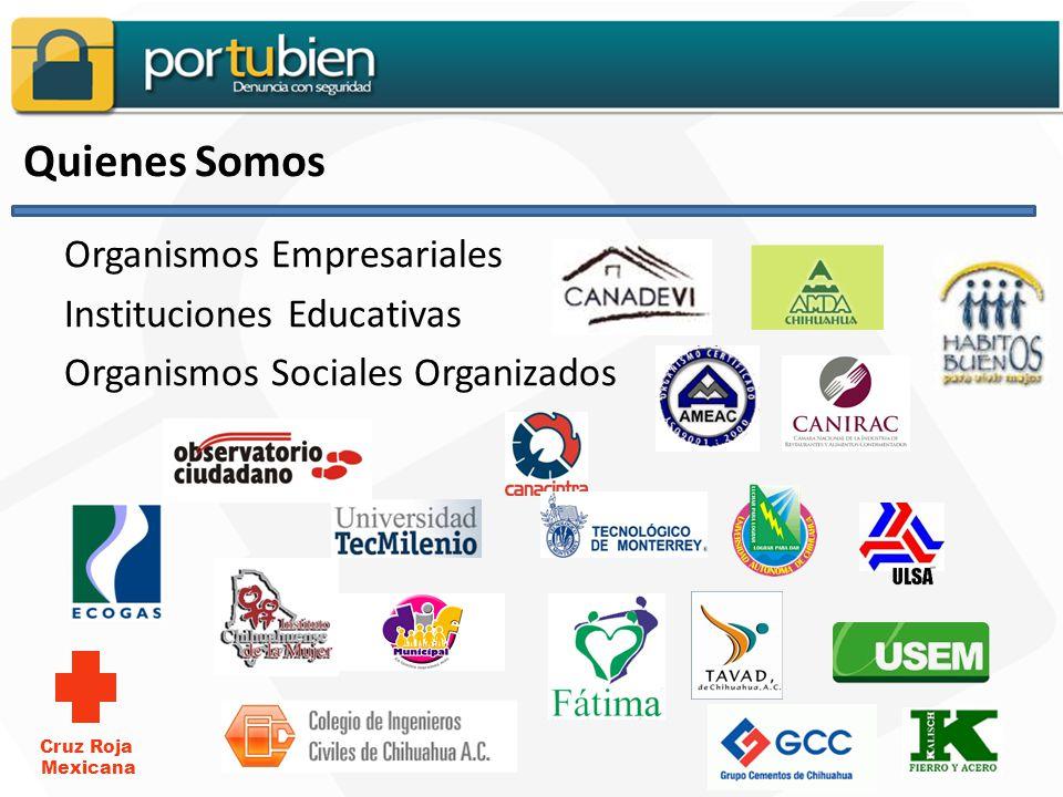 Quienes Somos Organismos Empresariales Instituciones Educativas Organismos Sociales Organizados Cruz Roja Mexicana