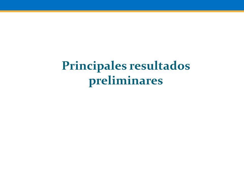 Principales resultados preliminares
