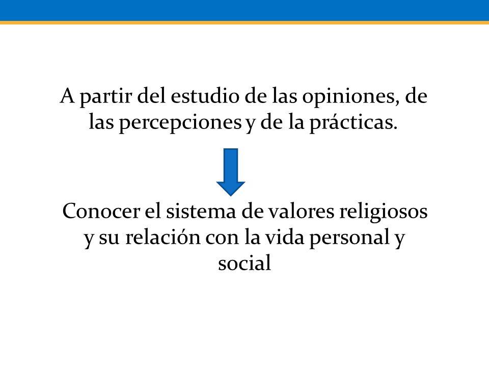 A partir del estudio de las opiniones, de las percepciones y de la prácticas.