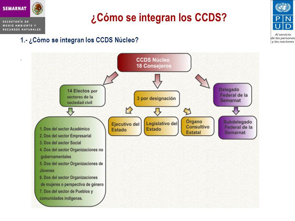 ¿Cómo se integran los CCDS? 1.- ¿Cómo se integran los CCDS Núcleo?.