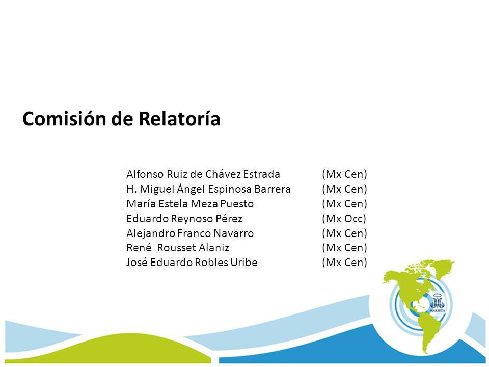Comisión de Relatoría Alfonso Ruiz de Chávez Estrada (Mx Cen) H. Miguel Ángel Espinosa Barrera (Mx Cen) María Estela Meza Puesto (Mx Cen) Eduardo Reyn