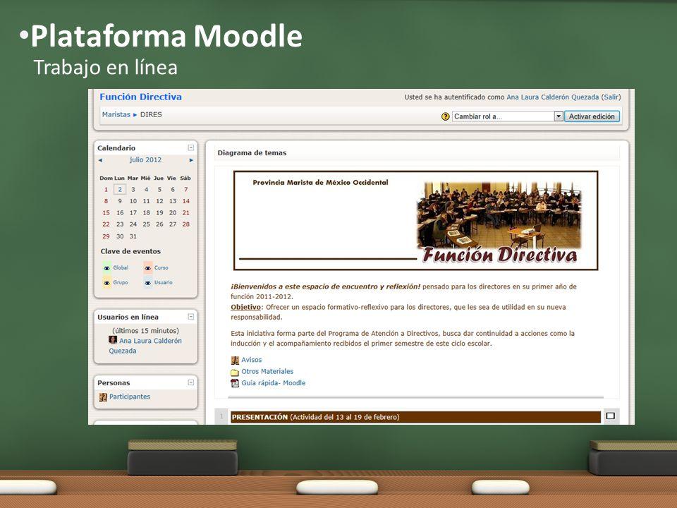 Plataforma Moodle Trabajo en línea