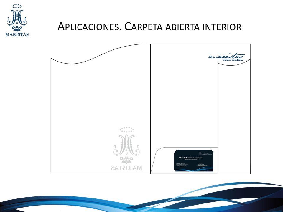 A PLICACIONES. C ARPETA ABIERTA INTERIOR