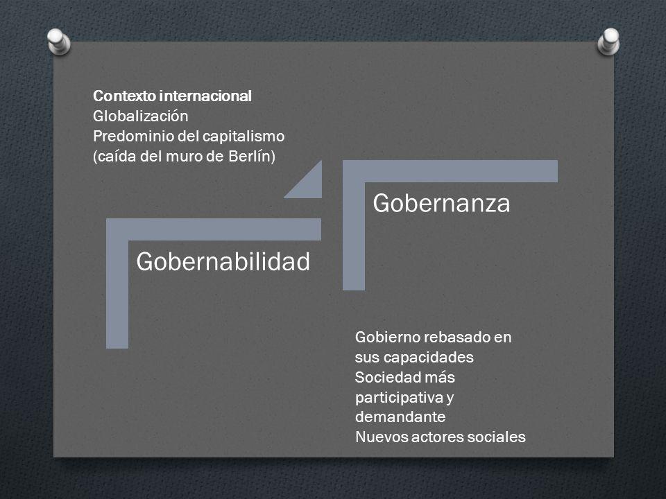 Principios generales O Participación O Transparencia O Rendición de cuentas O Eficacia (consecución de resultados conforme a los objetivos) O Coherencia (objetivos consistentes y coordinados que no se limitan a políticas sectoriales) Responsabilidad y transformación Social Gubernamental