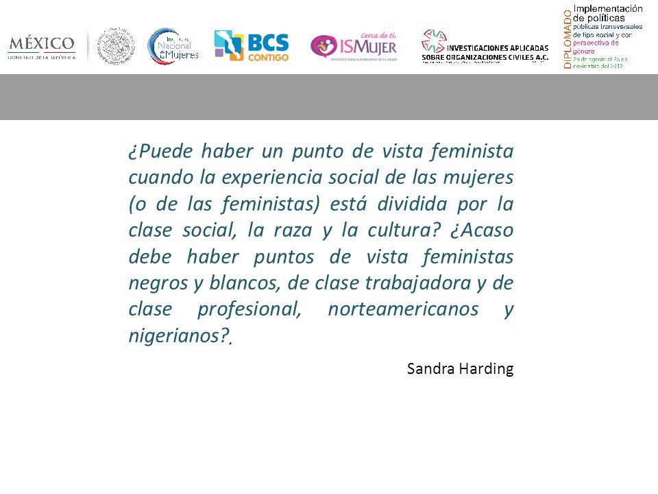 ¿Puede haber un punto de vista feminista cuando la experiencia social de las mujeres (o de las feministas) está dividida por la clase social, la raza y la cultura.
