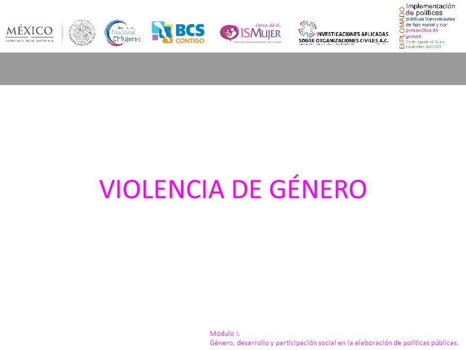 Módulo I. Género, desarrollo y participación social en la elaboración de políticas públicas. VIOLENCIA DE GÉNERO