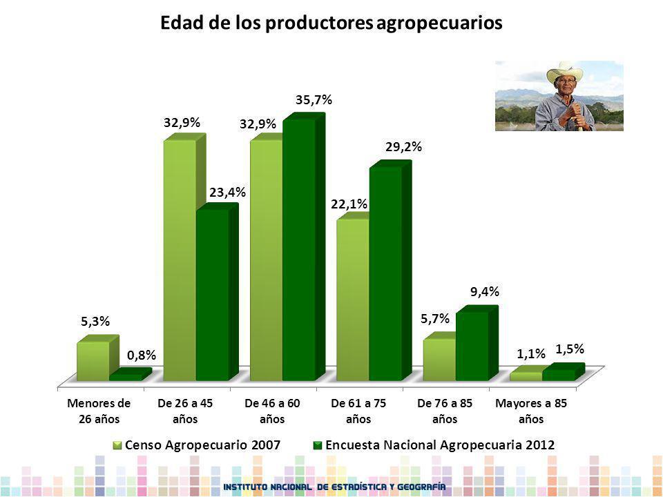 Edad de los productores agropecuarios