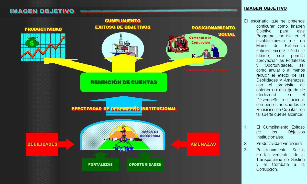 IMAGEN OBJETIVO El escenario que se pretende configurar como Imagen Objetivo para este Programa, consiste en el establecimiento de un Marco de Referen