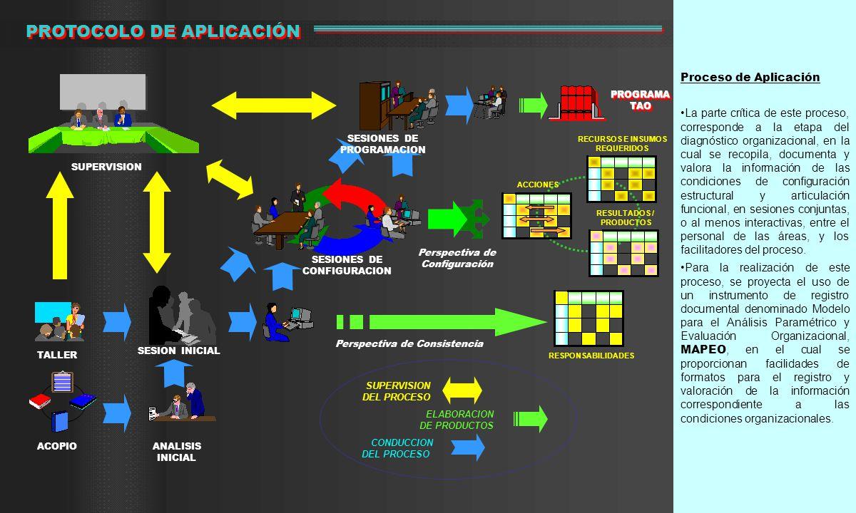 Proceso de Aplicación La parte crítica de este proceso, corresponde a la etapa del diagnóstico organizacional, en la cual se recopila, documenta y val