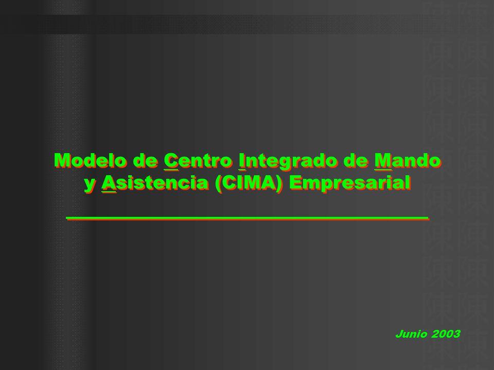 Modelo de Centro Integrado de Mando y Asistencia (CIMA) Empresarial Junio 2003