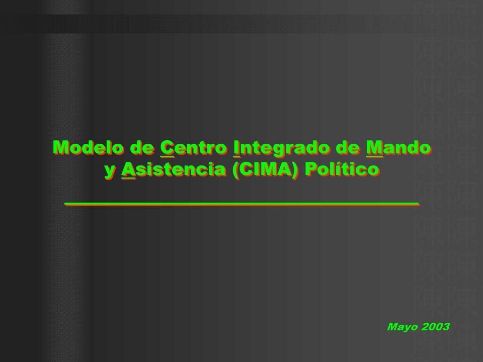 Modelo de Centro Integrado de Mando y Asistencia (CIMA) Político Mayo 2003