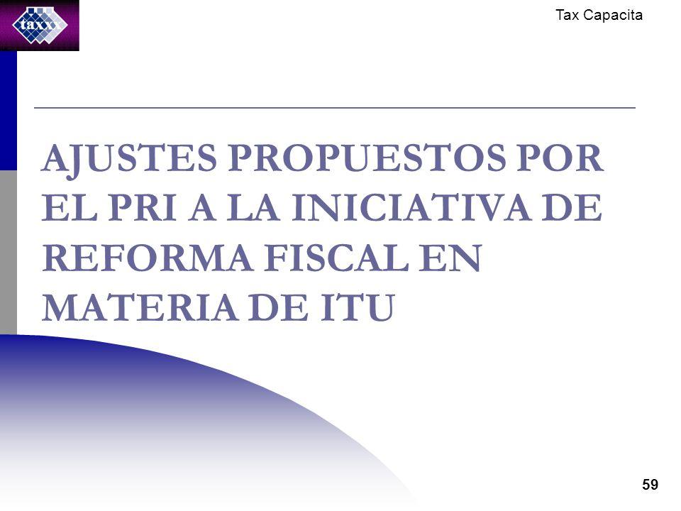 Tax Capacita 59 AJUSTES PROPUESTOS POR EL PRI A LA INICIATIVA DE REFORMA FISCAL EN MATERIA DE ITU