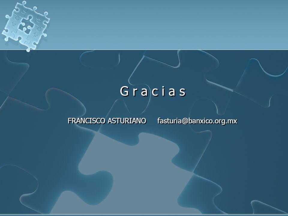 G r a c i a s FRANCISCO ASTURIANO fasturia@banxico.org.mx G r a c i a s FRANCISCO ASTURIANO fasturia@banxico.org.mx