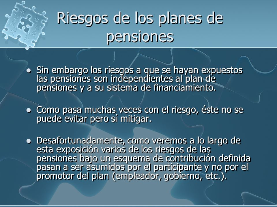 Importe de pensión bajo un sistema de contribución definida La idea básica es realizar una aportación periódica a una cuenta que va generando rendimientos.