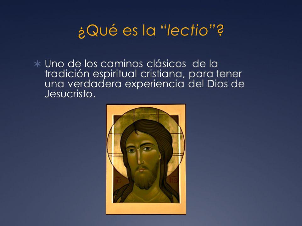 Unificación del ser y de la vida La lectio unifica la página bíblica con la página de la vida de quien la ora...