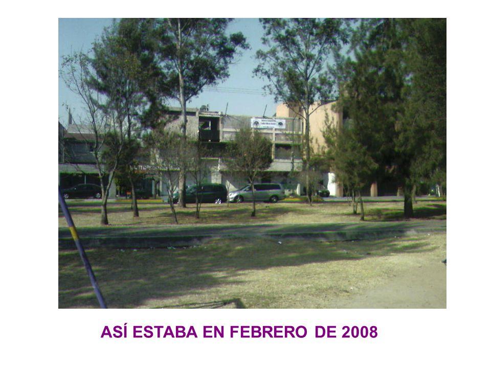 ASÍ ESTABA EN FEBRERO DE 2008
