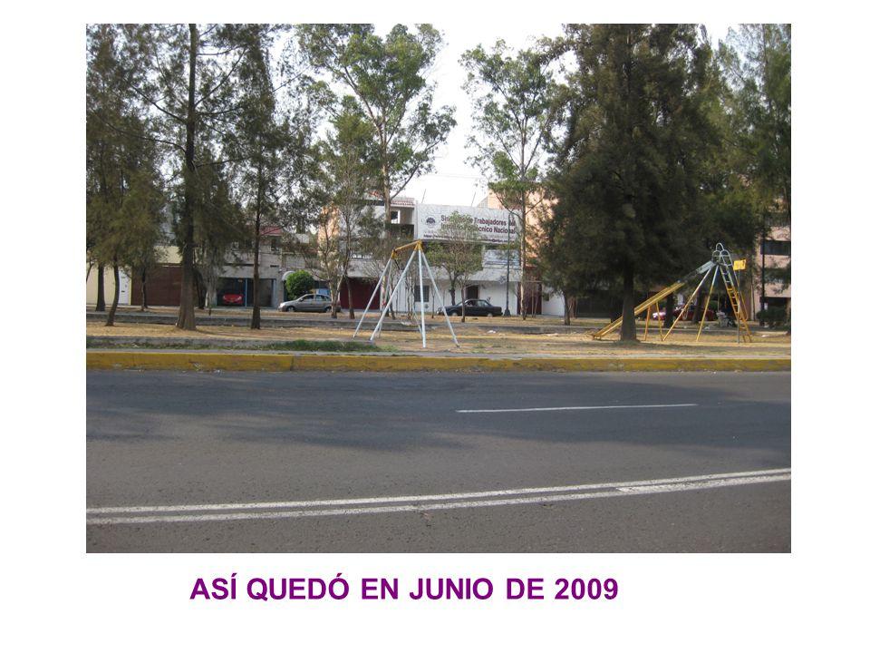 ASÍ QUEDÓ EN JUNIO DE 2009