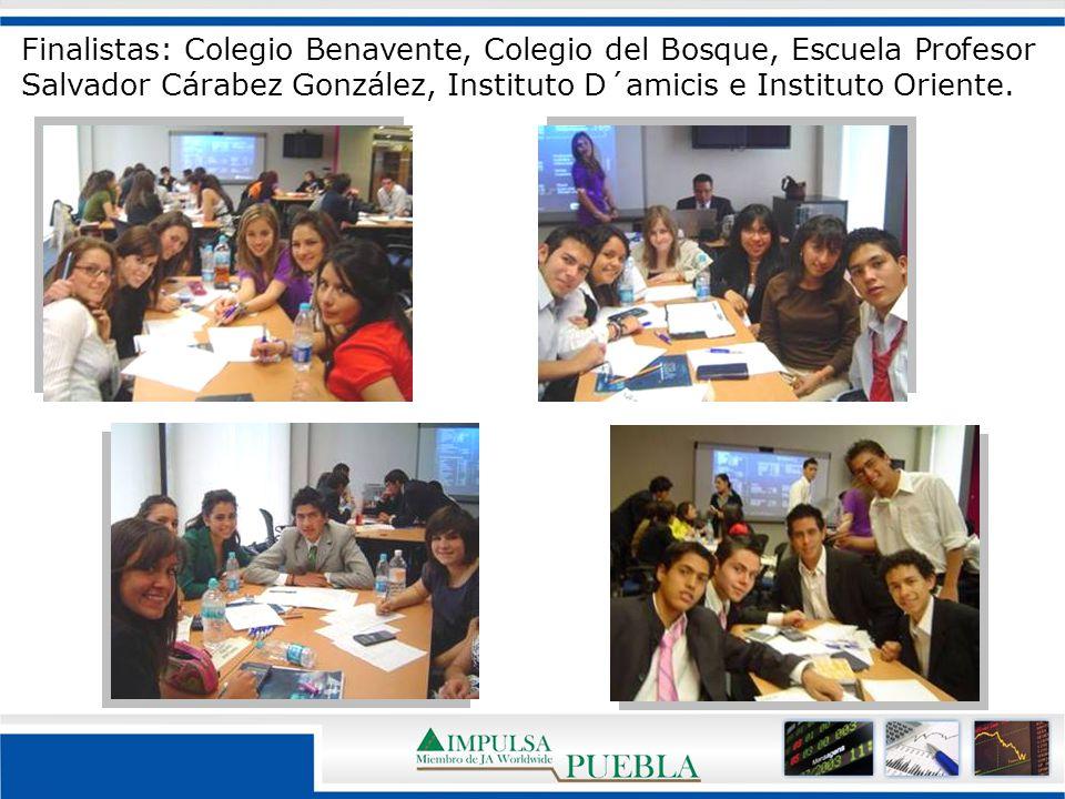 Finalistas: Colegio Benavente, Colegio del Bosque, Escuela Profesor Salvador Cárabez González, Instituto D´amicis e Instituto Oriente.