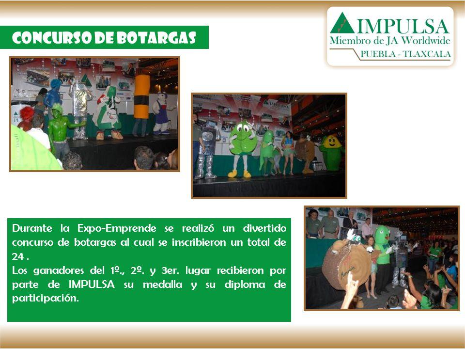 Concurso de botargas Durante la Expo-Emprende se realizó un divertido concurso de botargas al cual se inscribieron un total de 24. Los ganadores del 1