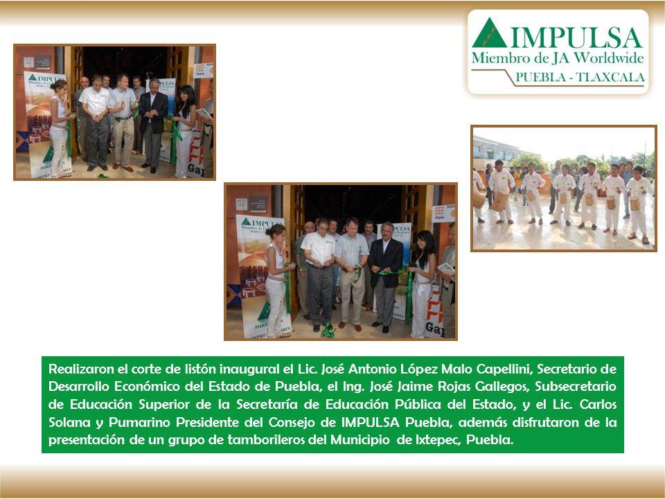 Realizaron el corte de listón inaugural el Lic. José Antonio López Malo Capellini, Secretario de Desarrollo Económico del Estado de Puebla, el Ing. Jo