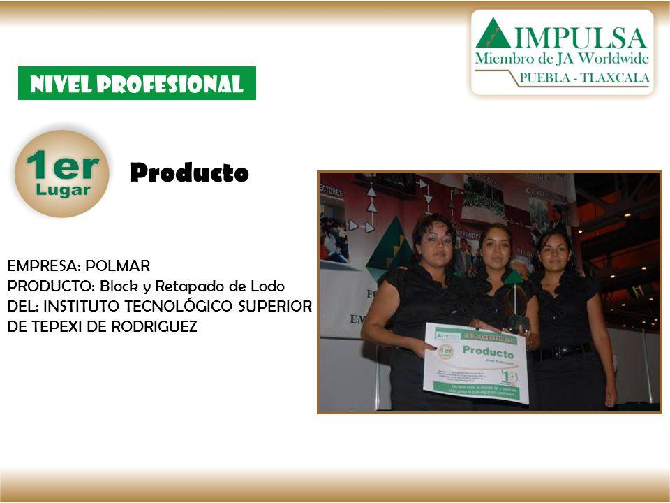 Producto Nivel Profesional EMPRESA: POLMAR PRODUCTO: Block y Retapado de Lodo DEL: INSTITUTO TECNOLÓGICO SUPERIOR DE TEPEXI DE RODRIGUEZ