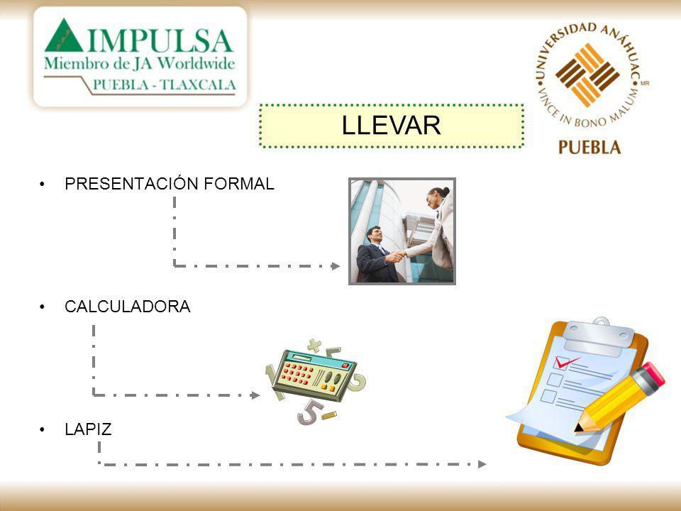 PRESENTACIÓN FORMAL CALCULADORA LAPIZ LLEVAR