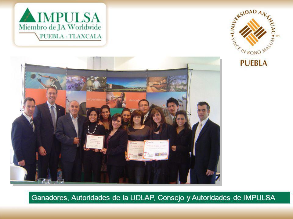 Ganadores, Autoridades de la UDLAP, Consejo y Autoridades de IMPULSA