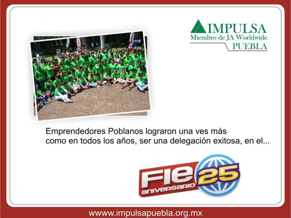 Del 06 al 10 de Julio, se llevó a cabo el Foro Internacional de Emprendedores 09, FIE, en Cocoyoc, Morelos; donde participaron 300 jóvenes de 16 a 23 años de edad procedentes de diferentes Estados de la República, compartieron sus culturas y vivieron una semana donde aprendieron y descubrieron que: Emprendedor.