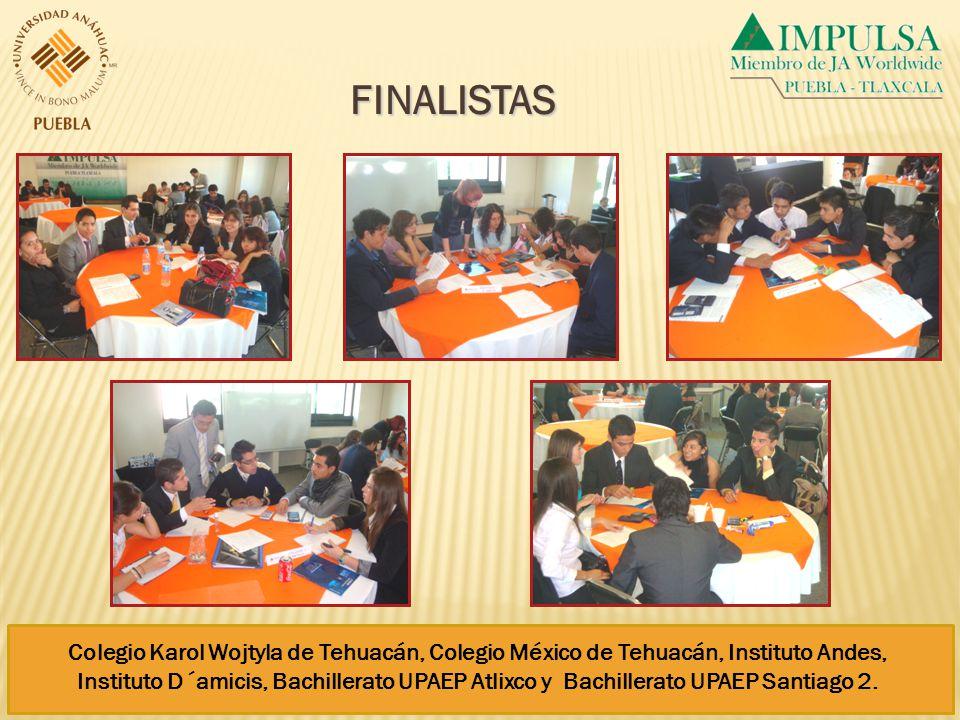 Colegio Karol Wojtyla de Tehuacán, Colegio México de Tehuacán, Instituto Andes, Instituto D´amicis, Bachillerato UPAEP Atlixco y Bachillerato UPAEP Santiago 2.