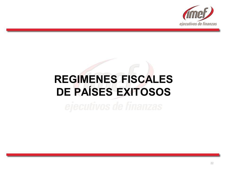 22 REGIMENES FISCALES DE PAÍSES EXITOSOS