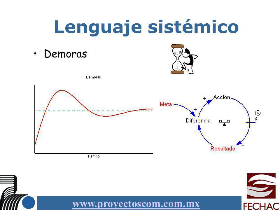 www.proyectoscom.com.mx Lenguaje sistémico Demoras