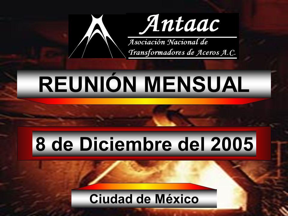 8 de Diciembre del 2005 REUNIÓN MENSUAL Ciudad de México