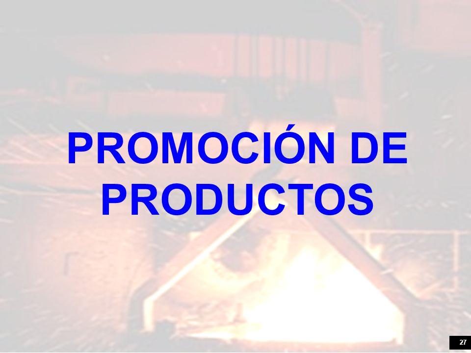 27 PROMOCIÓN DE PRODUCTOS