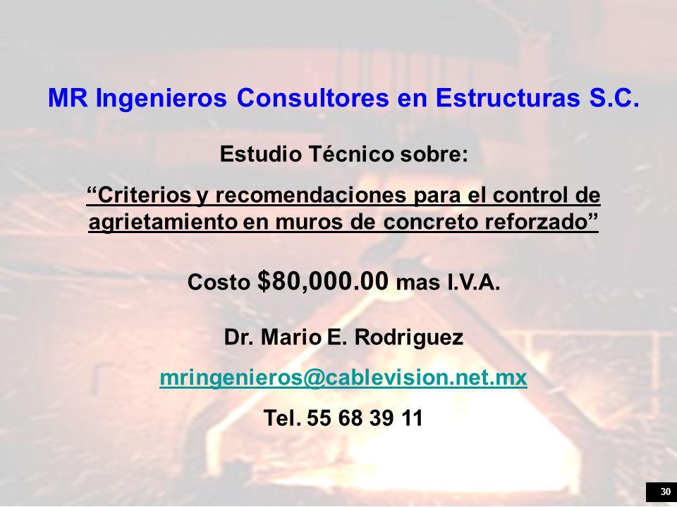30 MR Ingenieros Consultores en Estructuras S.C.