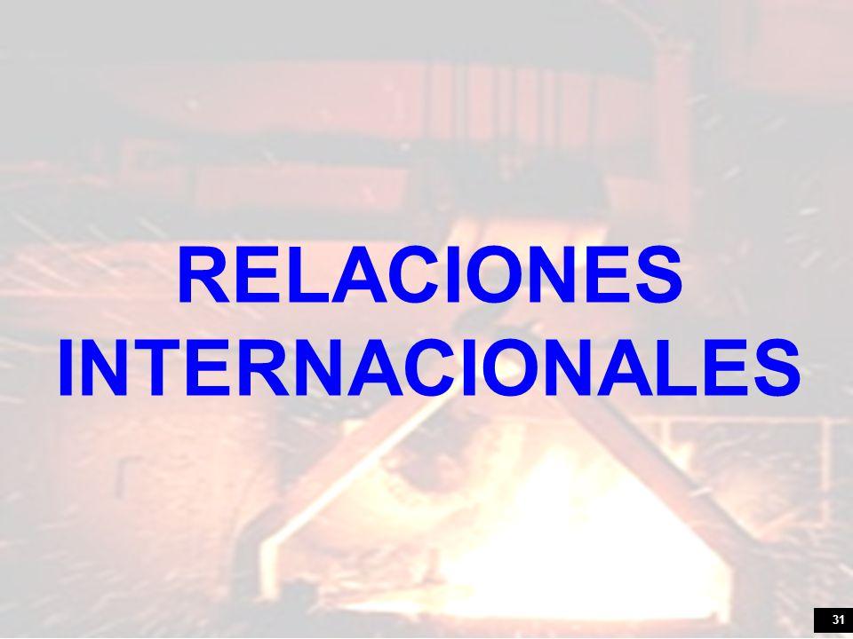 31 RELACIONES INTERNACIONALES