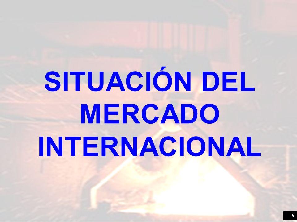6 SITUACIÓN DEL MERCADO INTERNACIONAL