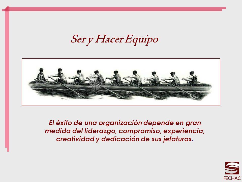 El éxito de una organización depende en gran medida del liderazgo, compromiso, experiencia, creatividad y dedicación de sus jefaturas. Ser y Hacer Equ