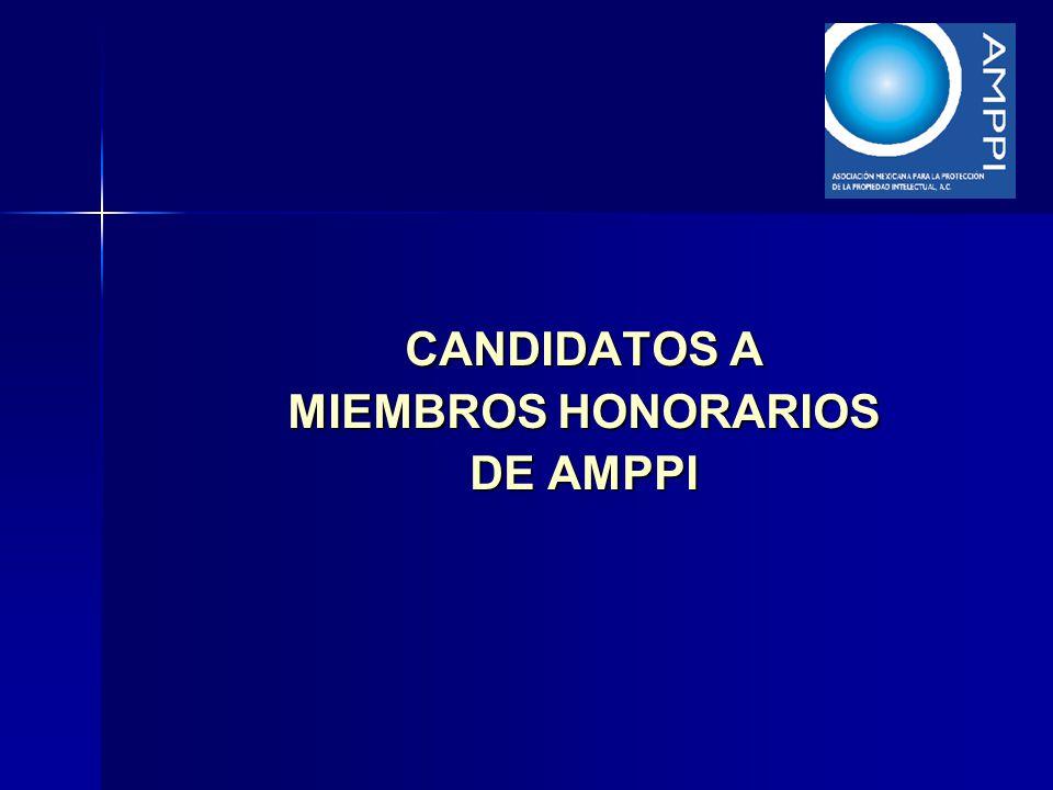 CANDIDATOS A MIEMBROS HONORARIOS DE AMPPI
